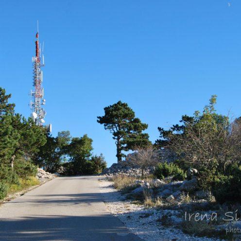 Transmitter, road, Vidova gora, Brač, Dalmatia