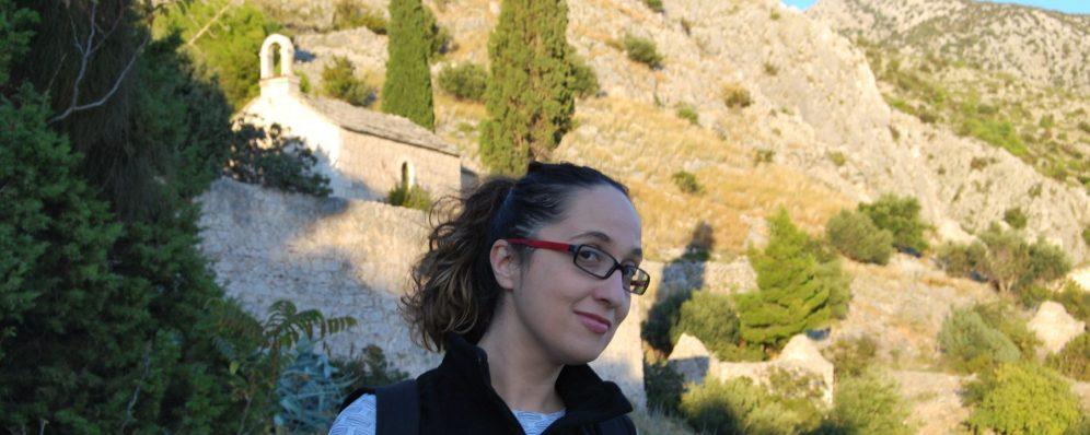 My selfie at Dračeva luka - hermitage at island of Brač, Murvica